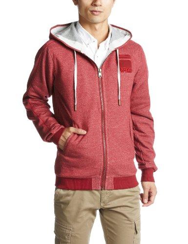 G-Star - Felpa, cappuccio, manica lunga, uomo rosso (Rot (chateaux red 1330))