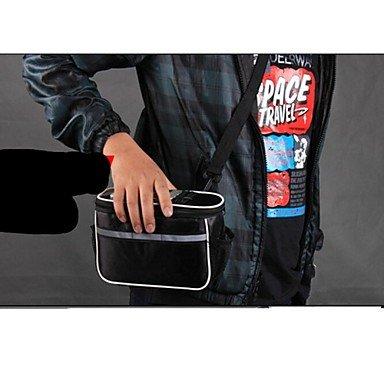 ZXC/Basecamp? Modische Radfahren Tasche mit Reflektorstreifen Handytasche Tasche Single Schultertasche 12813 Schwarz