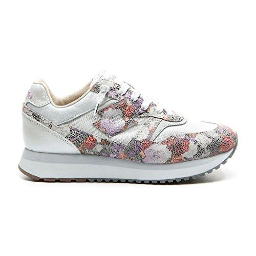 LOTTO Sneakers Slice Flowers W Argento-Fiori T4614-38, Argento