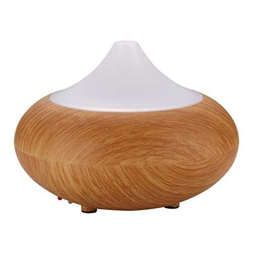 Simple huile essentielle diffuseur grain de bois aromathérapie poêle chambre sommeil parfum lampe yoga classe aromathérapie silencieux diffuseur d'arôme (Color : Wood color, Size : 9 * 13cm)