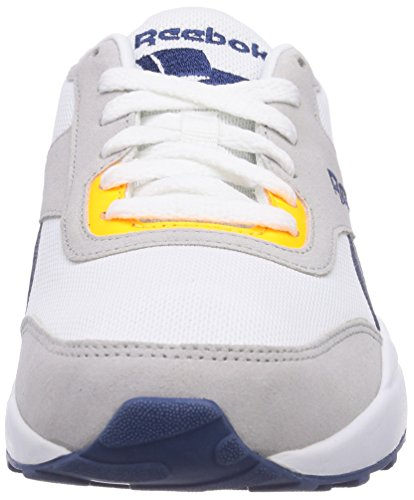 Reebok Royal Chase Unisex-Erwachsene Sneakers Mehrfarbig (Steel/White/Batik Blue/Solar Gold/Collegiate Royal)