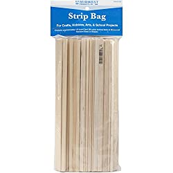 Midwest Products 589.9 cm3 Project Woods Balsa and Basswood Strip Economy Bag