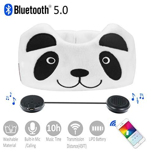 Kinder Kopfhörer, Azzker Wireless Bluetooth V4.1 Hands-Free Soft-Stirnband mit ultradünnen Stereo-Lautsprecher und Mikrofon Kinder-Kopfhörer für Anrufe, Schule, Haus-und Reise (Panda) (Mikrofon Wireless-stirnband Mit)