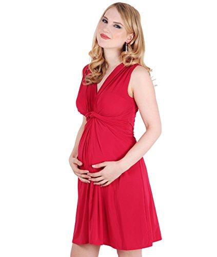 KRISP® Femmes Robe Inspiration Portefeuille Soirée Cocktails Elégante Maternité Grossesse Rouge rouge