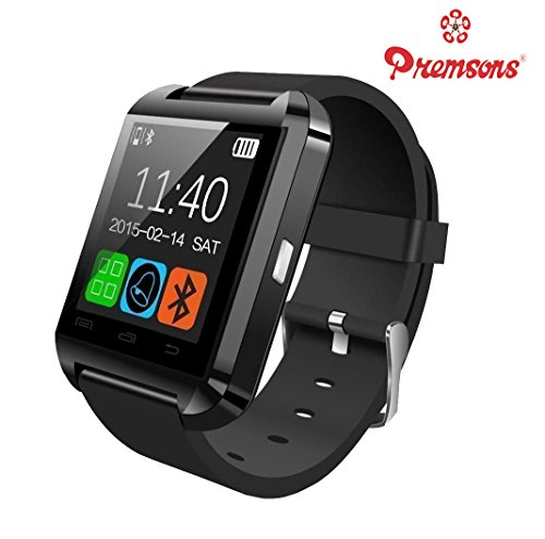 Smart Watch Best U8 Bluetooth Authentic U Watch Latest Arrival Hot New Fashion Cheapest Lightweight with Silicone Wristband, Compatible with 99% Android Smartphones iOS Apple iPhone 4/4S/5/5C/5S/6/6 Plus/6S/6S Plus, Samsung S2/S3/S4/Note 2/Note 3, Nexus 6, Moto G3/ G4, Xiaomi Redmi Note 2/3, Coolpad Note 2/3, HTC, Sony, Blackberry High Quality Lowest Price Great Deal for Men, Women with Camera, Digital Touch Screen, Wifi, Internet, Outdoor, Sports, Fitness, USB Cable Charger (Black, Red Colour)