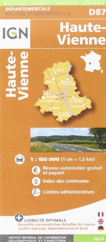 Haute-Vienne dép 87 (Departement Maps) par Institut Géographique National
