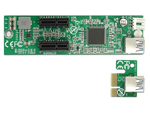 DeLock Riser Card PCI Express x1 > 2 x PCIe x1 - Riser Card, 41433