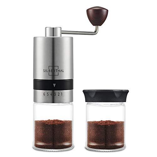 Silberthal macina caffè manuale | macinacaffe portatile professionale da mano | macina caffe finezza regolabile |coffee grinder
