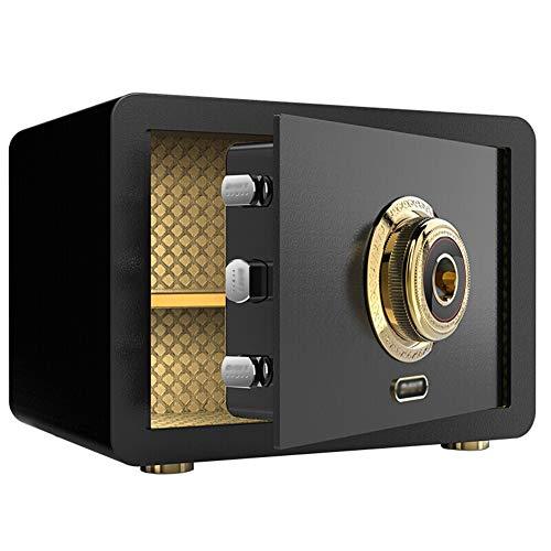 Caja Fuerte de Seguridad,35x25x25cm Reconocimiento de Huellas Dactilares Electrónica de Caja de...