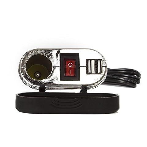 étanche pour moto téléphone portable GPS double sortie USB Adaptateur d'alimentation Système de chargement USB (Rv Alimentazione Cavi)