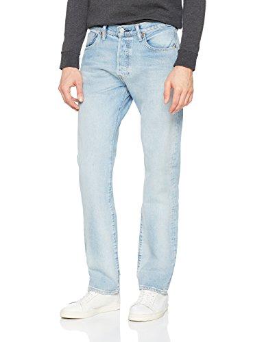 Levi's Herren Slim Jeans 501 Levi's Original Fit - Blau (Mowhawk Warp Str 2550) - W34/L30