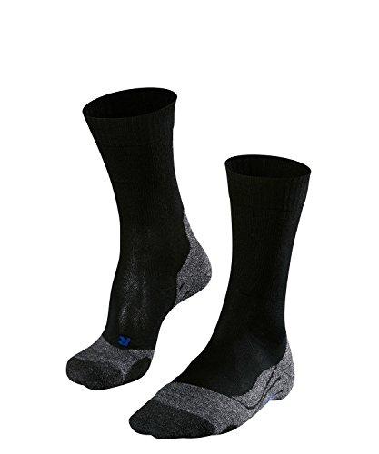 FALKE TK2 Cool Herren Trekkingsocken / Wandersocken - schwarz, Gr. 44-45, 1 Paar, kühlende Wirkung, mittlere Polsterung, feuchtigkeitsregulierend