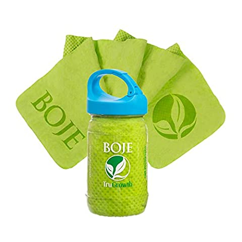 BOJE Cooling Chill Towel - Innovative Material Cools As Moisture Evaporates! Available in BLUE, GREEN or PINK! * New Design CLIP CAP * LIFETIME