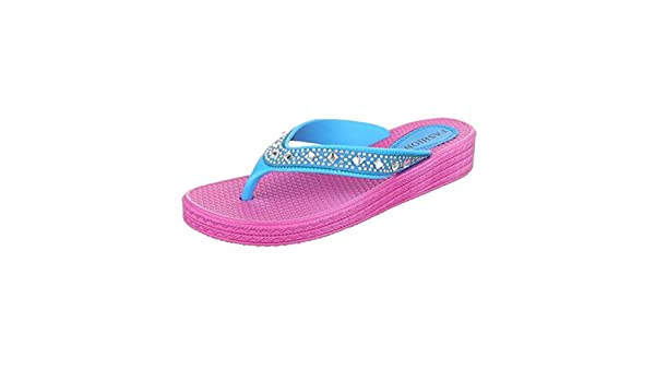 Damen Latschen/Zehentrenner/Flip Flops/Flache Sohle/Sommerschuhe/Bequeme Freizeitschuhe/Sandale/Pink/Rosa, EU 40