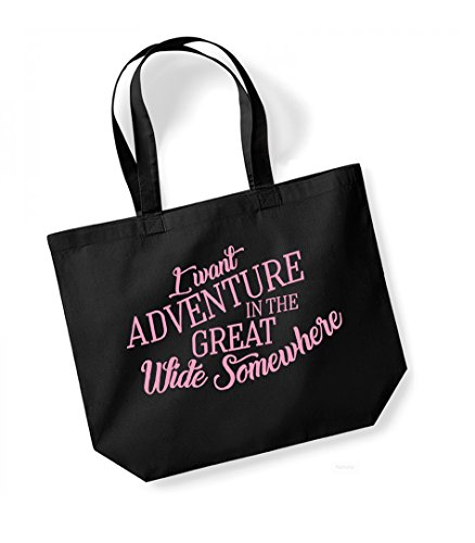i-want-adventure-in-the-great-wide-somewhere-large-canvas-fun-slogan-tote-bag-black-pink