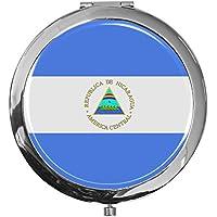 "metALUm - Extragroße Pillendose in runder Form""Flagge Nicaragua"" preisvergleich bei billige-tabletten.eu"