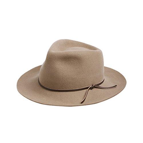 Vaevanhome Cowboy Hut Männer Und Frauen Herbst Und Winter Rindleder Fell Jazz Kappe Lässig Wilden Hut, Verstellbar, Kamel