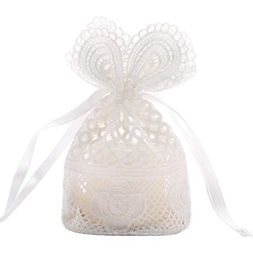 Tartiery sacchetto della caramella del cordone, 10 sacchetto leggero portatile degli orecchini del braccialetto degli orecchini dell'anello per le feste della festa di natale delle ragazze