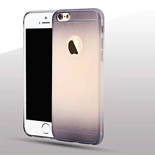 Apple iPhone 6/6S (4.7 Zoll) Hülle,Einfache Gradienten dünnen TPU Schutzmaßnahmen weichen HülleSchlank war dünn durchscheinend Hülle (iphone 6/6s, Pink) Gray
