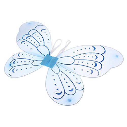Schmetterling Kostüm Kleinkind Für (MagiDeal Kinder Schmetterlings Flügel Elfenflügel Feenflügel Fee Flügel Kostüm für Mädchen 2 - 15 Jahre)