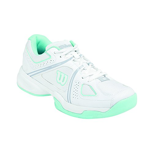 Wilson  NVISION ENVY WOMAN, Baskets de tennis femme Multicolore - Mehrfarbig (White / White / Mint Ice)