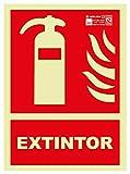 Astlight INC4065.7FJ Señal de extintor fotoluminiscente, Multicolor