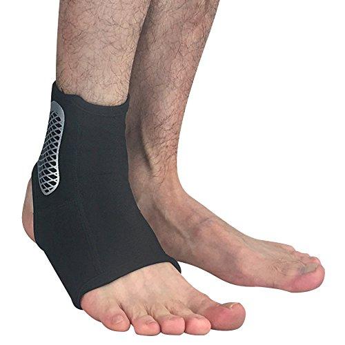 Herren Unisex Knöchel Unterstützung Fuß Elastische Wraps-Ein Paar Schwarz L