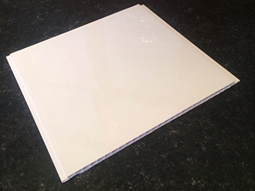 Gloss White 8mm Panels Bathroom Wall Cladding Ceiling PVC Panels Shower Wet Wall By DBS (8 Pack)