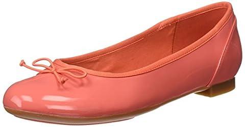 Clarks Couture Bloom, Mocassins Femme, Orange (Coral Patent), 39 EU