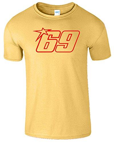Nicky Hayden Frauen Der Männer Damen MOTO GP T Shirt Gänseblümchen / Rot Design