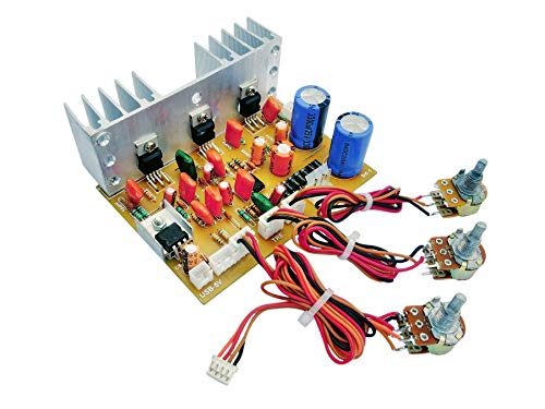 ERH INDIA Ready to Use 2.1 Home Theater Amplifier Board 100 watt with Bass Boost Support TDA2030 Based with inbuilt 5 Volt Regulator IC 7805