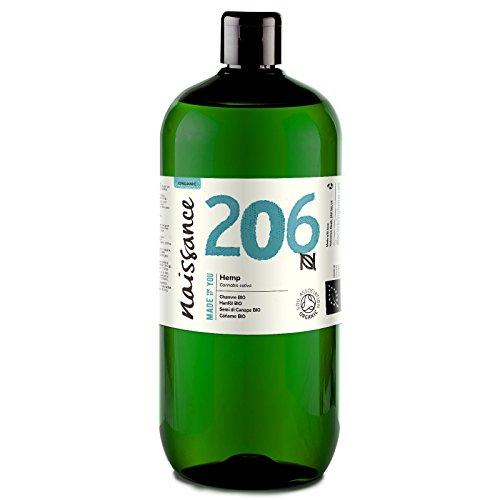 Naissance Huile de Chanvre Vierge BIO (n° 206) - 1 litre - 100% pure, naturelle et...