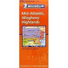 Mid-Atlantic, Allegheny Highlands (Michelin Regionalkarte)