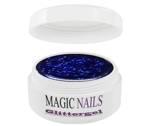 Magic Items Gel UV 15 ml Glit tergel Glitter Royal de bleu 23