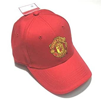 Manchester United Red Baseball Cap (Adjustable) (Red)