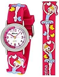 Ravel Children's 3D Ballerina Timeteacher Quartz Watch with White Dial Analogue Display and Multicolour Plastic Strap, R1513.73