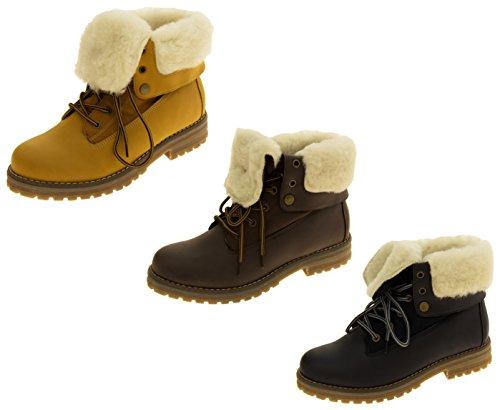 Footwear Studio Femmes KEDDO Hi Top Chaude Chaussures en Laine Doublée en Laine