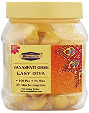 BISMAADH Vanaspati Ghee Diya (Pack of 100,Ghee Diya)