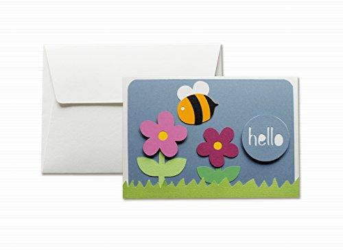 hello-hola-flores-abeja-tarjeta-de-felicitacion-y-sobres-formato-105-x-15-cm-vacio-por-dentro-ideal-