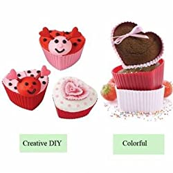 6pcs Silicone Heart Shape Love Cake Cupcake Molds Pans Muffin Baking Mold Mould