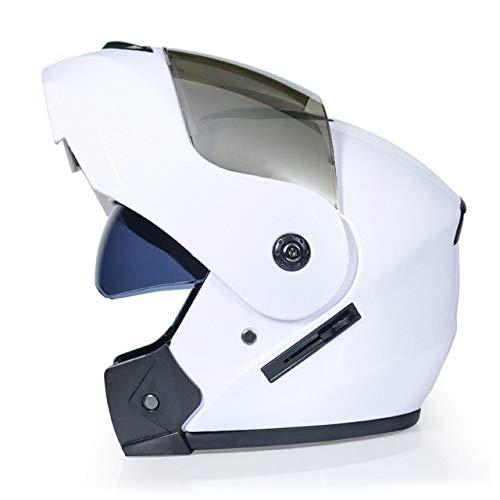 Berrd Nuovo casco da moto Doppia lente Visiera parasole Flip Casco da moto fuoristrada Caldo antivento Sabbia antipolvere c3 S