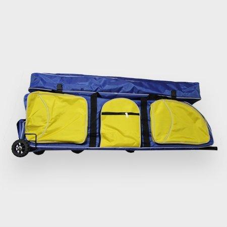 Fechttasche Rollbag Jumbo (Blau mit gelben Taschen) -