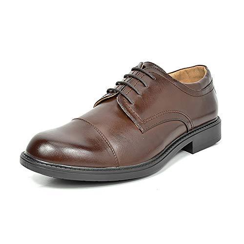 Bruno Marc Downing-01 Zapatos de Cordones Oxfords Vestir Derby para Hombre Marrón Oscuro 41.5 EU/8.5...