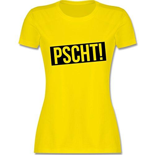 Lehrer - Pscht! - Leise - tailliertes Premium T-Shirt mit Rundhalsausschnitt für Damen Lemon Gelb
