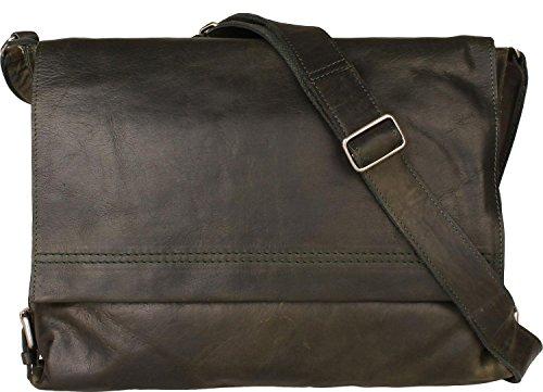 Harold's Saddle borsa a tracolla pelle 38 cm 21 verde