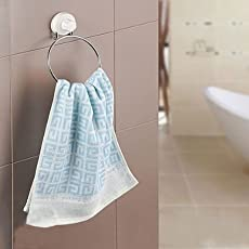 Celebrationgift New Improved Stainless Steel Towel Organizer With Suction Cups