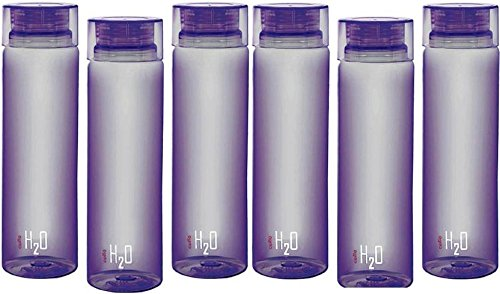 Cello H2o Fridge Water Bottle purpel Set Of 6