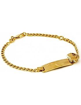 Isady - Teddy Bär Gold - Armband Kinder Baby - 18 Karat (750) Gelbgold platiert – Teddybär - 16cm – Taufarmband...