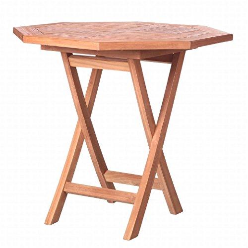 Table de jardin pliable en teck marron garden – Lola Derek