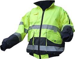 Warnschutz-Piloten-Jacke - gelb/marine - Größe: M